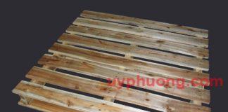 Loại pallet gỗ có 2 thanh gỗ ngoài được đóng lui vào để tăng tải trọng.