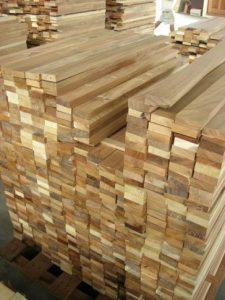 Thanh gỗ sau khi bào nhẵn
