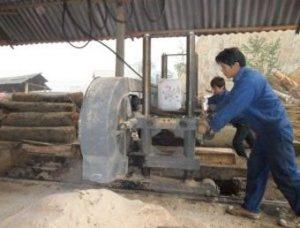 Xẻ gỗ tròn thành từng thanh gỗ